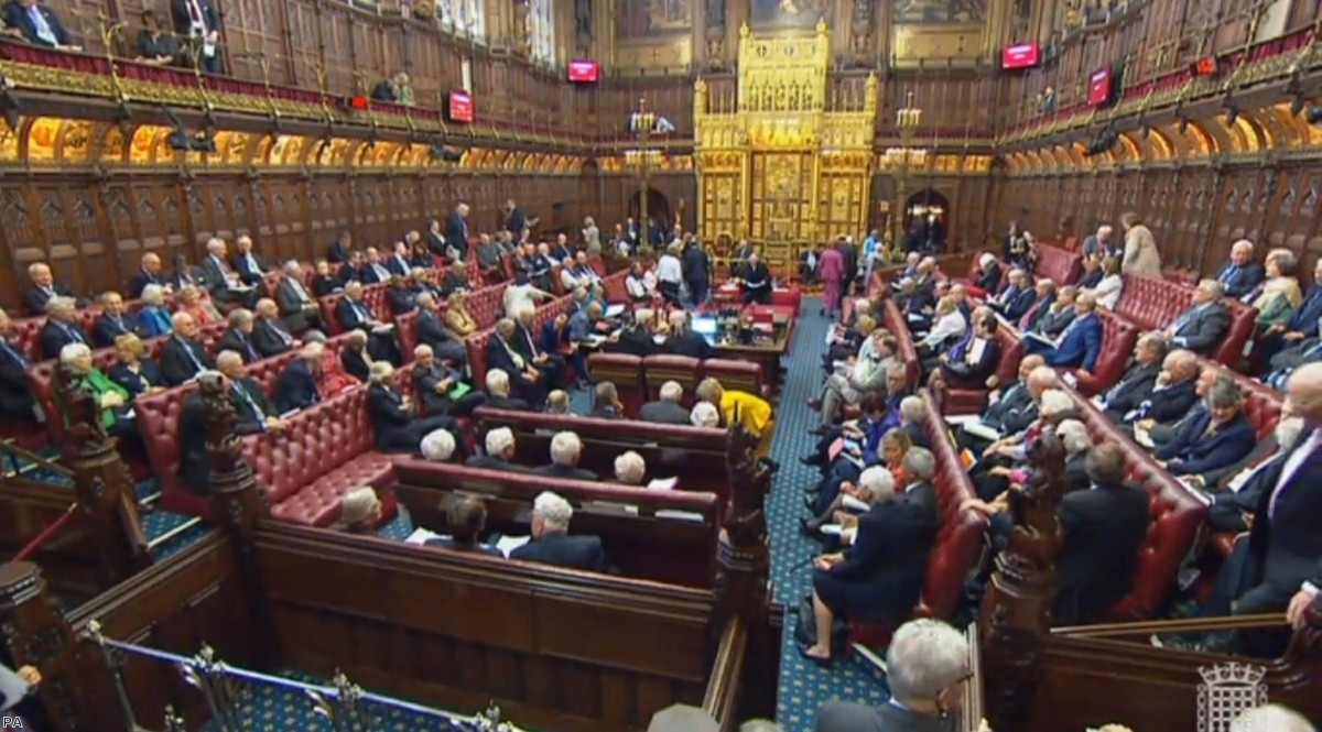 Peers in the House of Lords, London   Copyright: PA