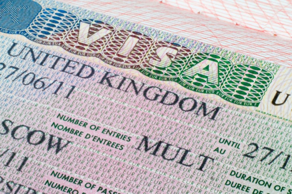 UK visa in passport | Copyright: iStock
