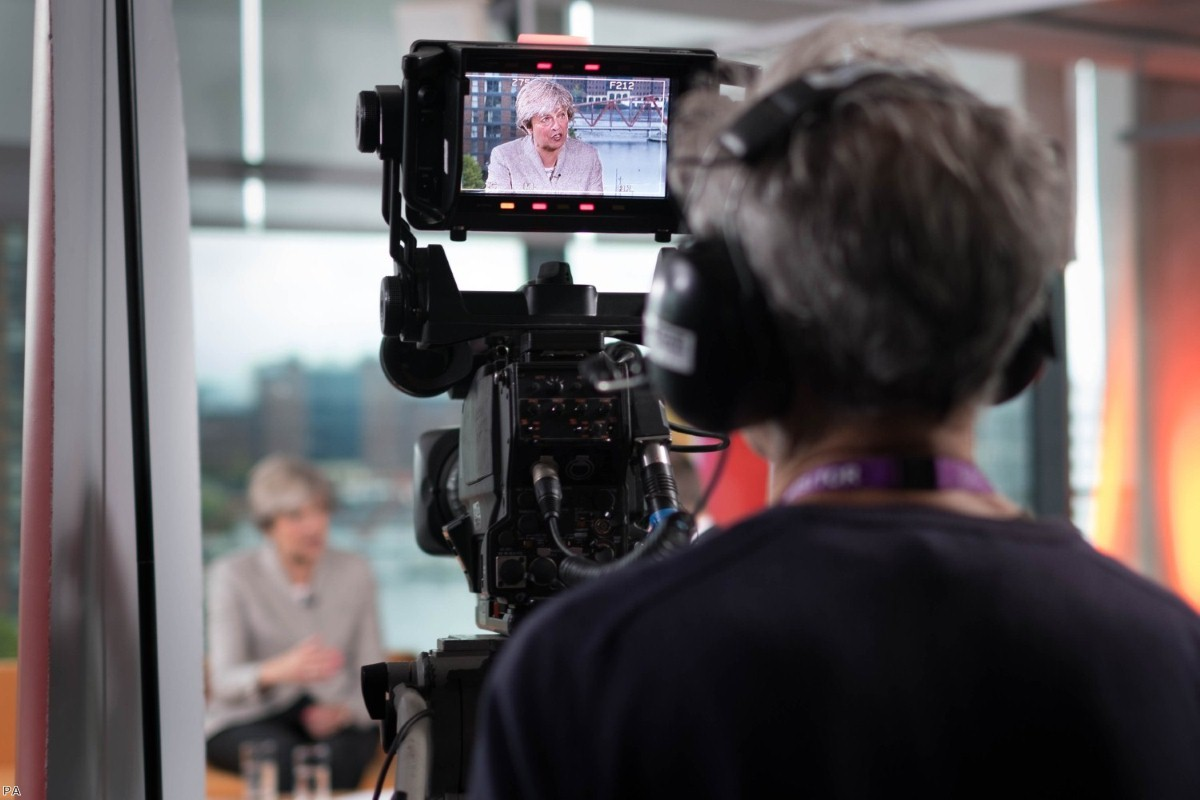 Prime Minister Theresa May appearing on The Andrew Marr Show in 2017   Copyright: PA