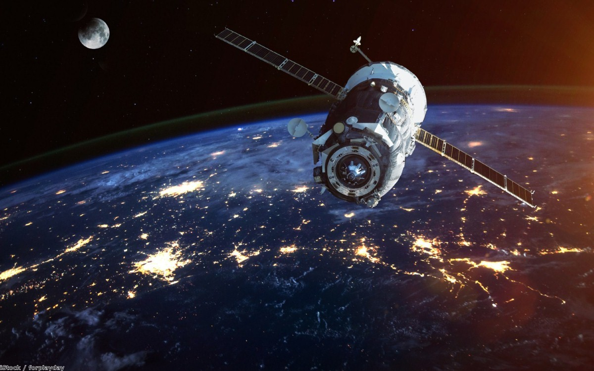 Illustration of a spacecraft into space | Copyright: iStock / forplayday
