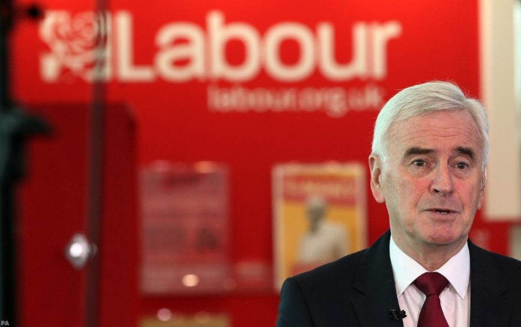 John McDonnell talks to the press ahead of his speech at the Labour Party Conference | Copyright: PA