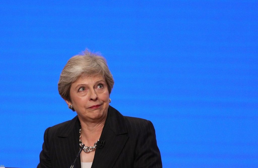 Prime Minister Theresa May makes her speech at the Conservative Party annual conference | Copyright: PA