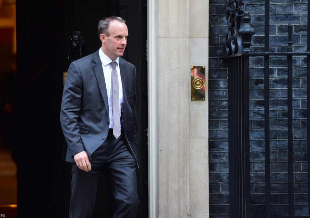 Dominic Raab: Talks on Sunday fall apart amid danger signs for negotiations