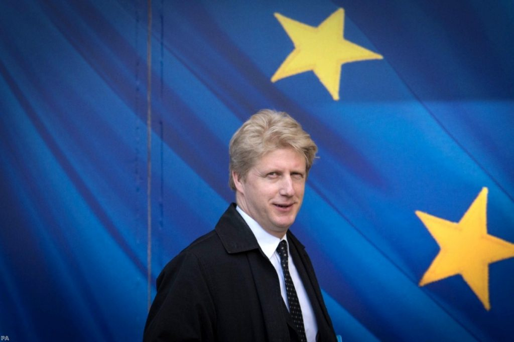 Jo Johnson visiting the European Commission last year. This afternoon he resigned from government over Brexit.