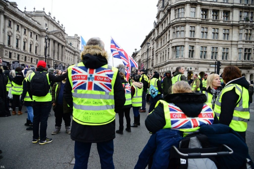 Pro-Brexit Yellow Jacket protesters block roads in Westminster over the weekend
