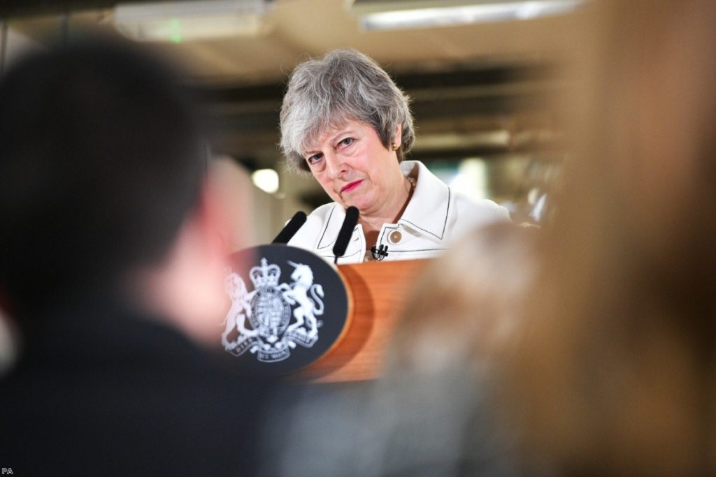 May delivers her eve-of-battle speech this morning
