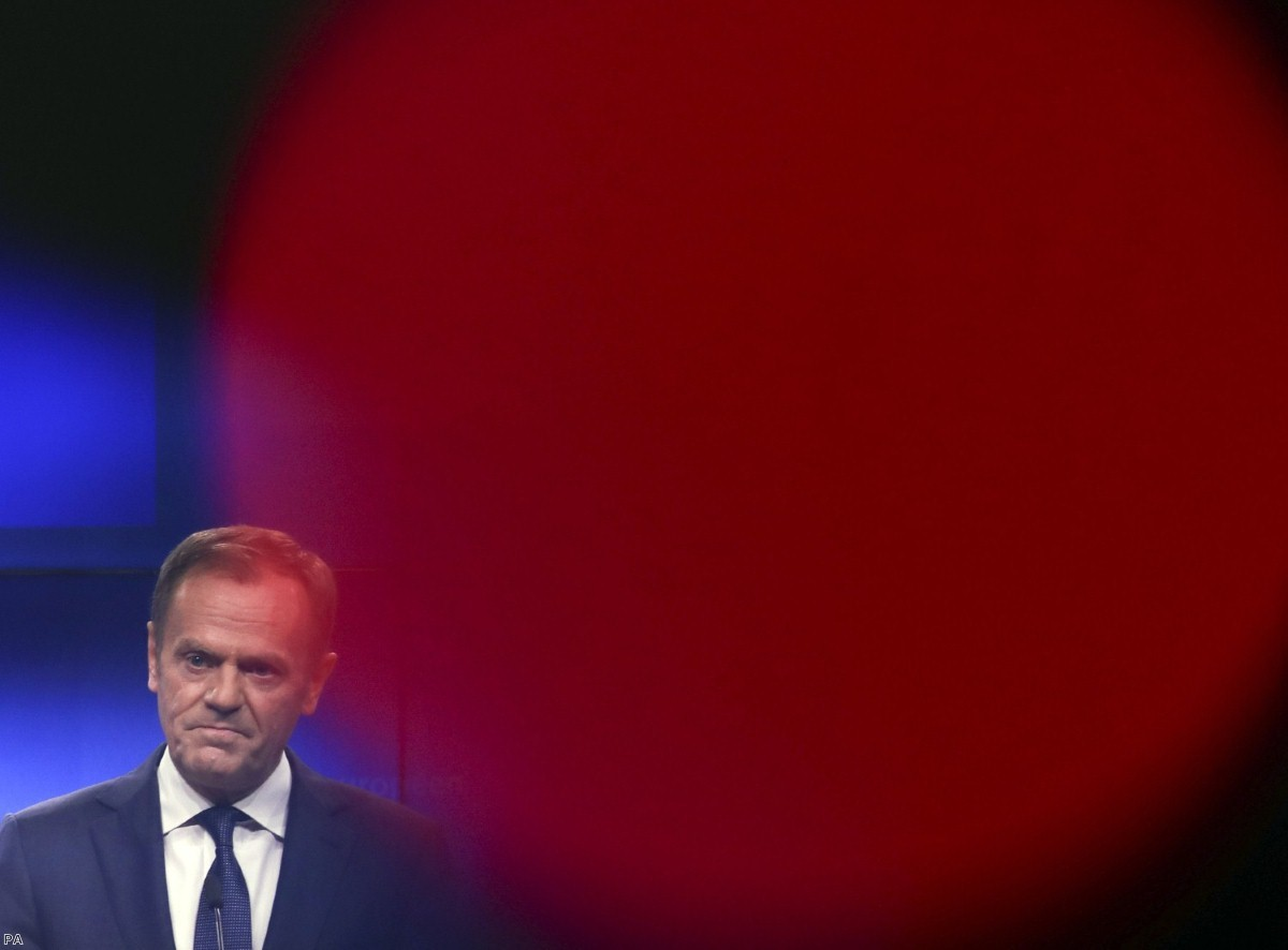 Tusk's comments caused a storm of British protest