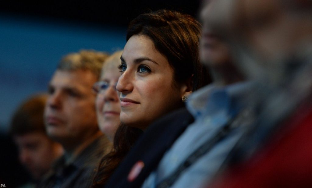 Berger during a Labour party conference in 2013. The Labour MPs had a police escort at more recent events due to threats to her safety.