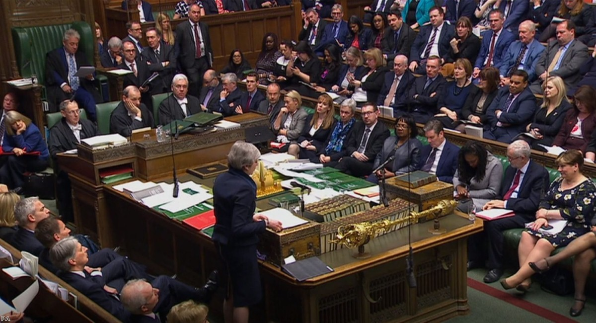 Theresa May updates MPs on the latest in the Brexit negotiations this afternoon.