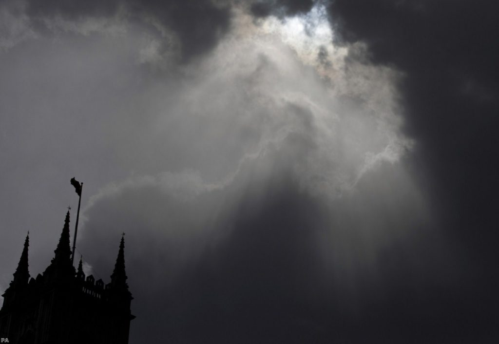 Dark days: Westminster wants an extension, but can no longer control its destiny