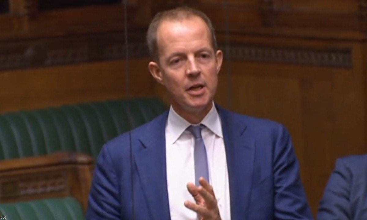 "Nick Boles at the end of today;s debate, as he announced he could ""no longer sit for this party""."
