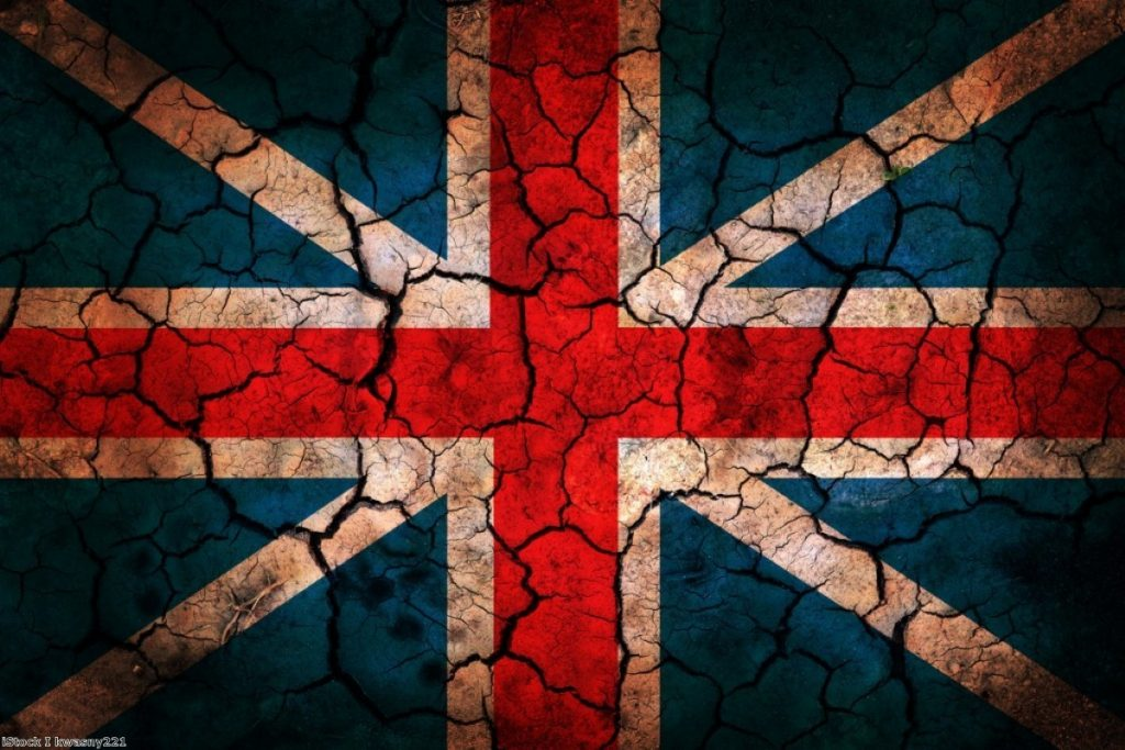 Cracks in the nation: Polling suggests it may be impossible to put Great Britain together again.