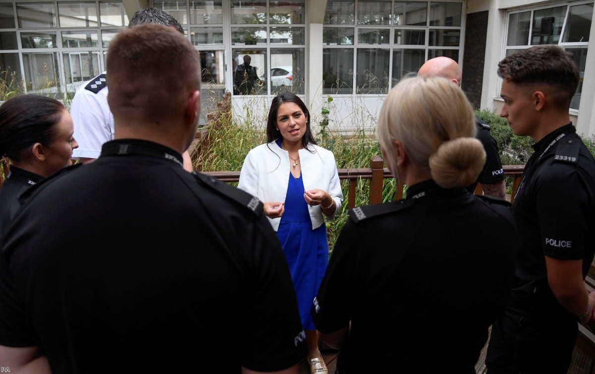 Priti Patel starts a police recruitment drive after being made home secretary.