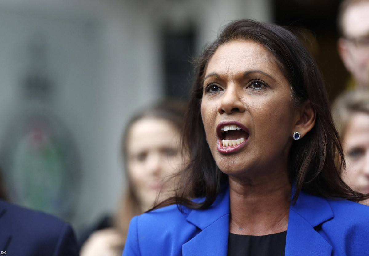 Gina Miller outside the Supreme Court following the ruling this morning.