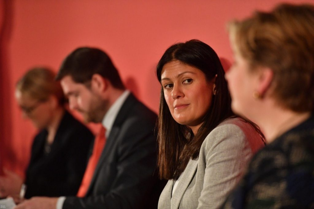 Lisa Nandy during a recent Labour leadership hustings in Nottingham