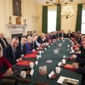 Johnson presides over his new Cabinet on Friday morning.