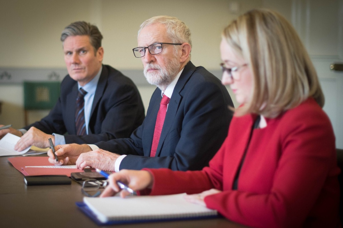 Starmer, Corybn and Long-Bailey. Her sacking is a sign of Starmer's determination to win power (photo: Press Association)