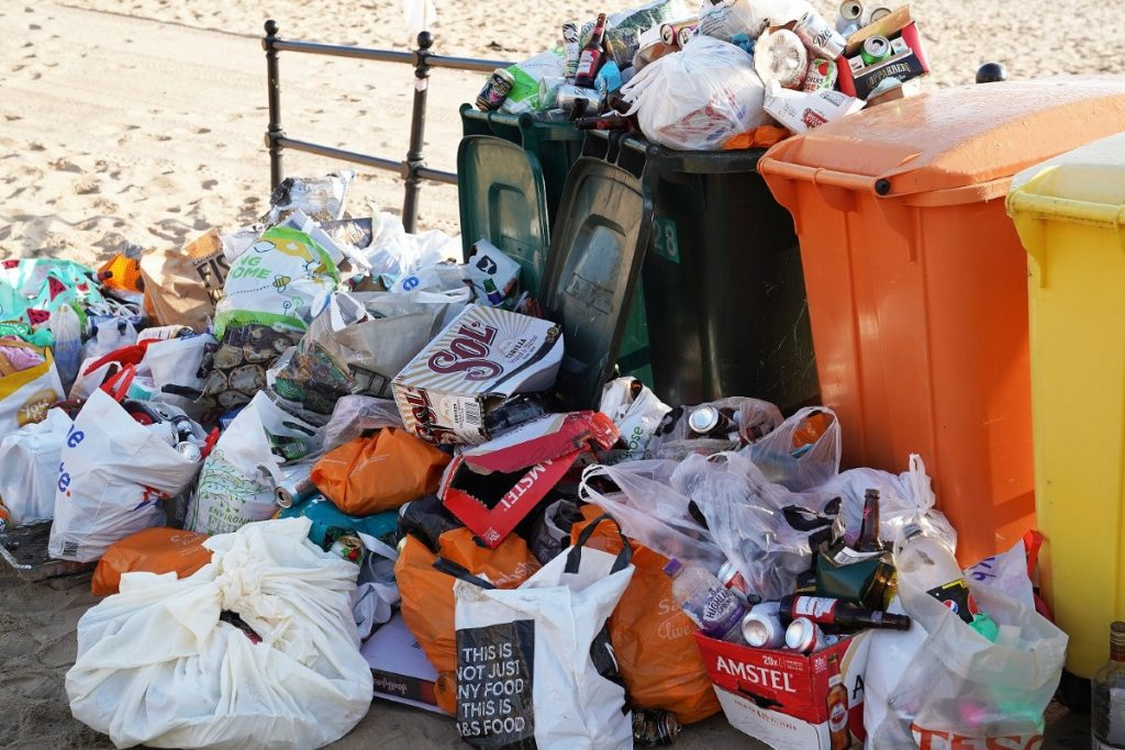 Beaches across the UK were drowning in litter after lockdown restrictions were eased: Covid should provide an opportunity to re-examine consumption and waste