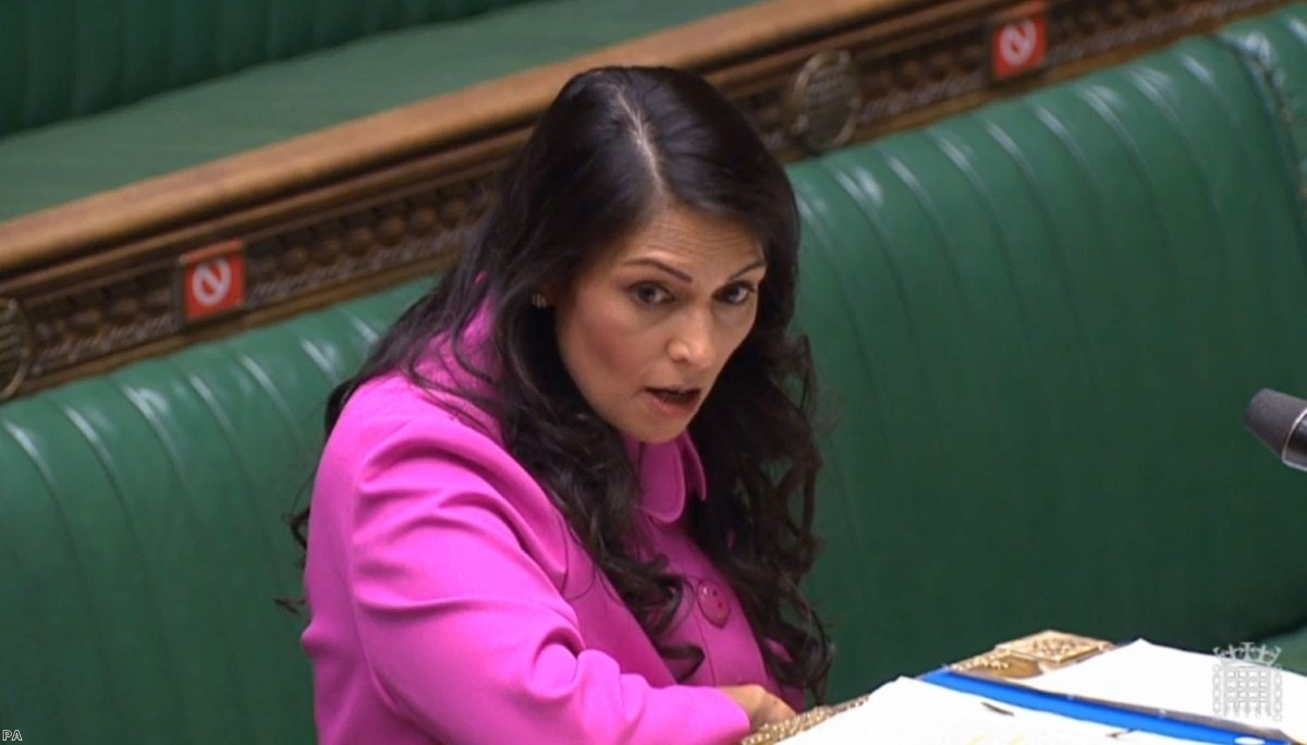 Priti Patel makes a statement to the Commons promising a 'full evaluation' of the Hostile Environment. Campaigns have heavily criticised her approach to asylum seekers during the covid crisis.