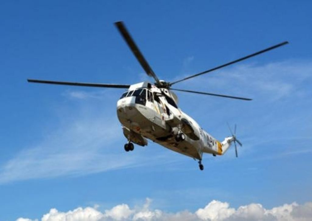 A Sea King helicopter. Sikorsky S-92s and AgustaWestland 189s are expected to be introduced by the Texan firm.