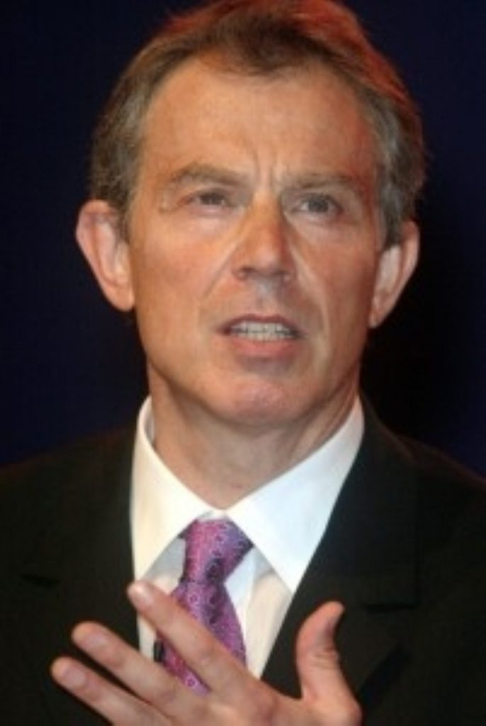 Tony Blair spoke to delegates in Manchester for the last time as prime minister today