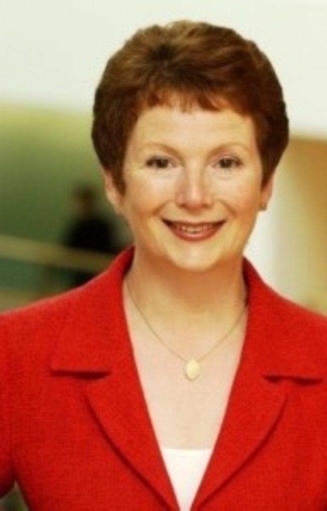 Labour chairwoman Hazel Blears protests against NHS closures