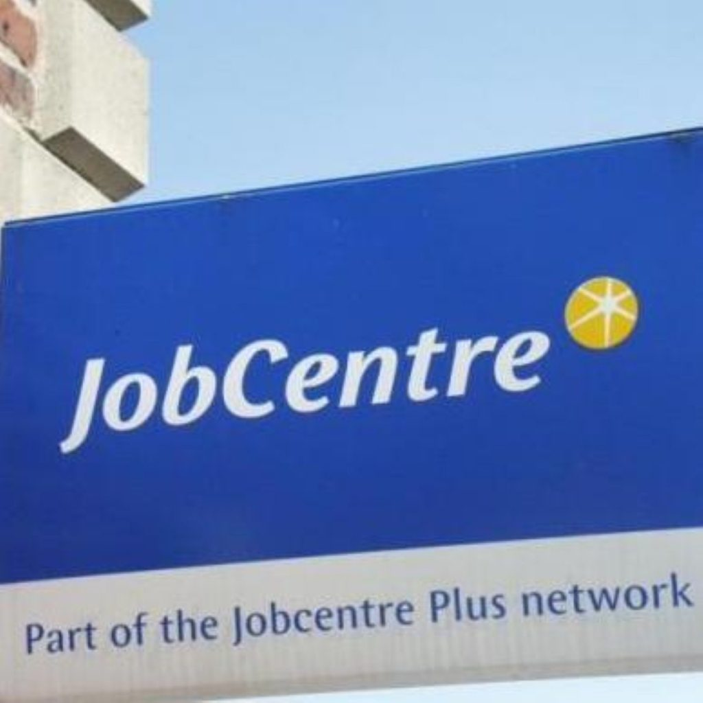 The number of people claiming unemployment benefit has fallen, Tony Blair revealed