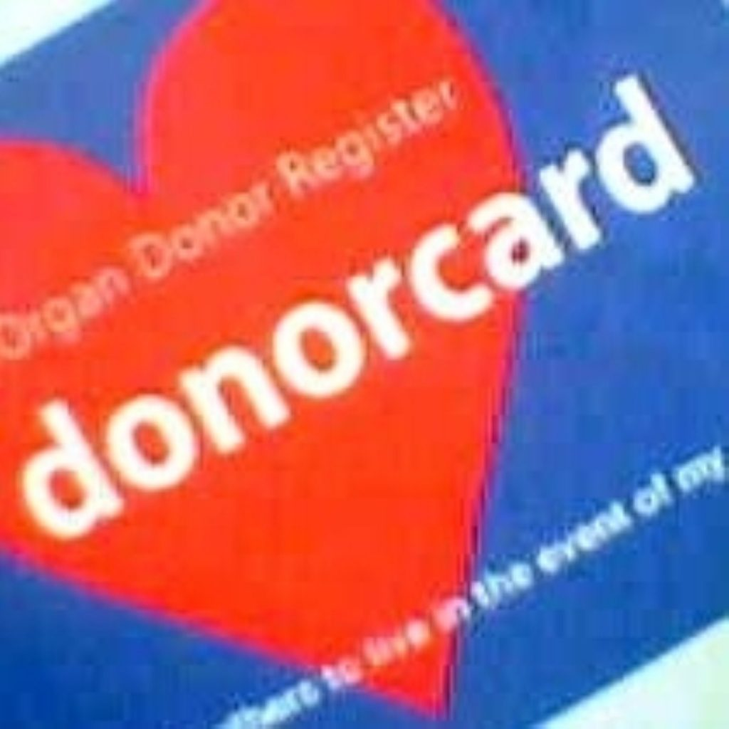 Only a quarter of Britons are currently registered donors
