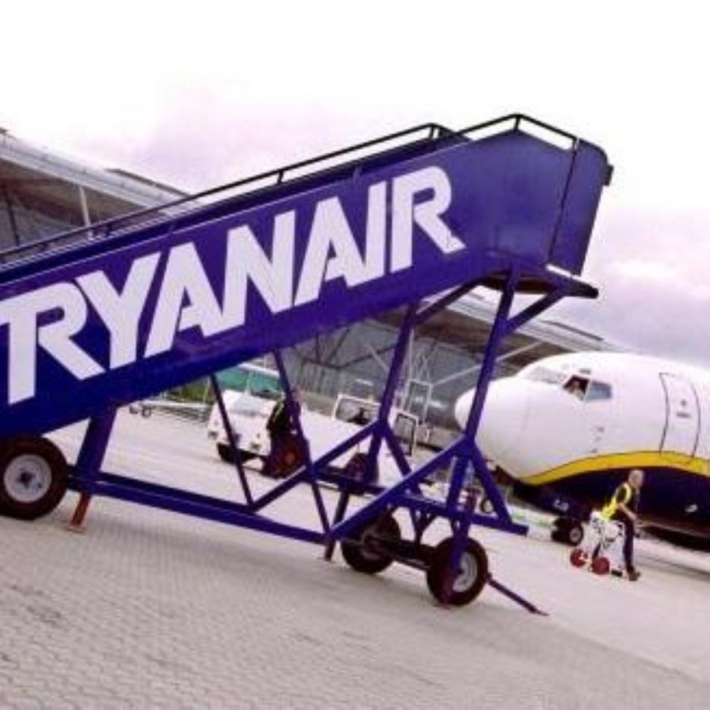 Environment minister Ian Pearson and Ryanair have been exchanging cross words in the press