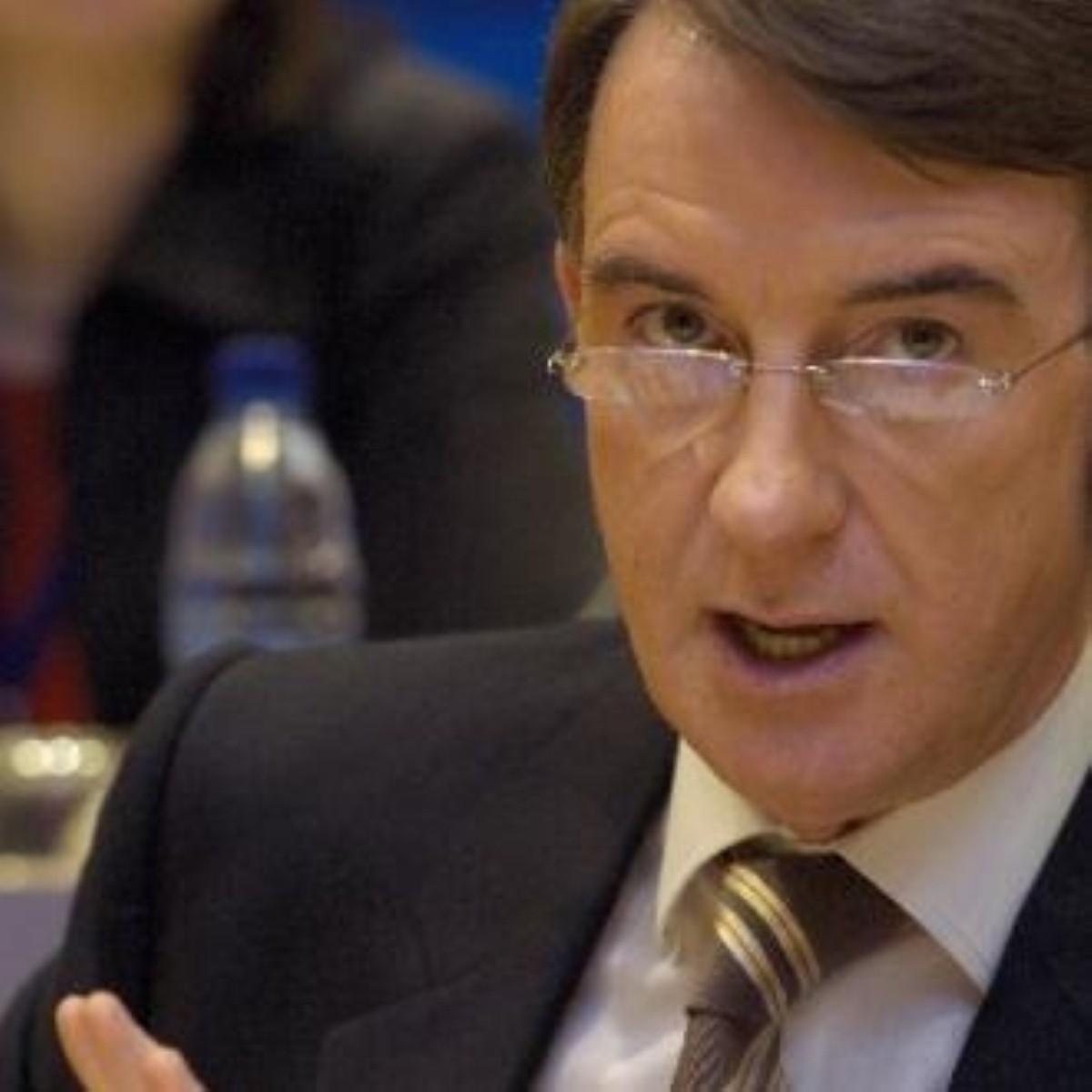 Peter Mandelson is displeased
