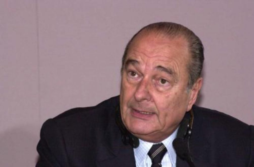 """Chirac: the French president wants an end to """"cheque Britannique"""""""