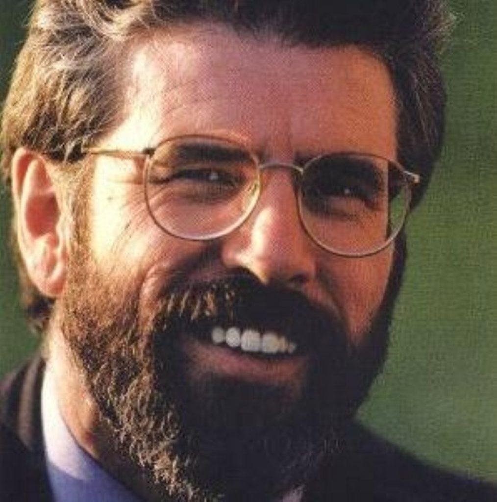 Sinn Fein leader Gerry Adams is confident of breakthrough on policing