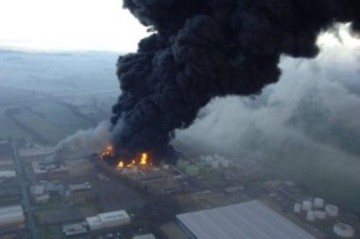 The 2005 Buncefield fire was the biggest peacetime fire since the Second World War