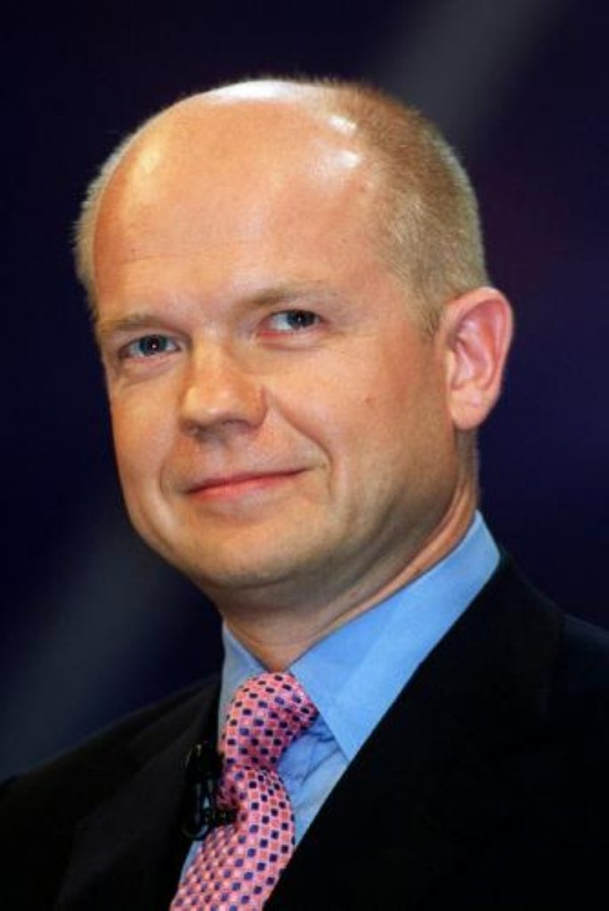 William Hague says human rights at at heart of Tory foreign policy
