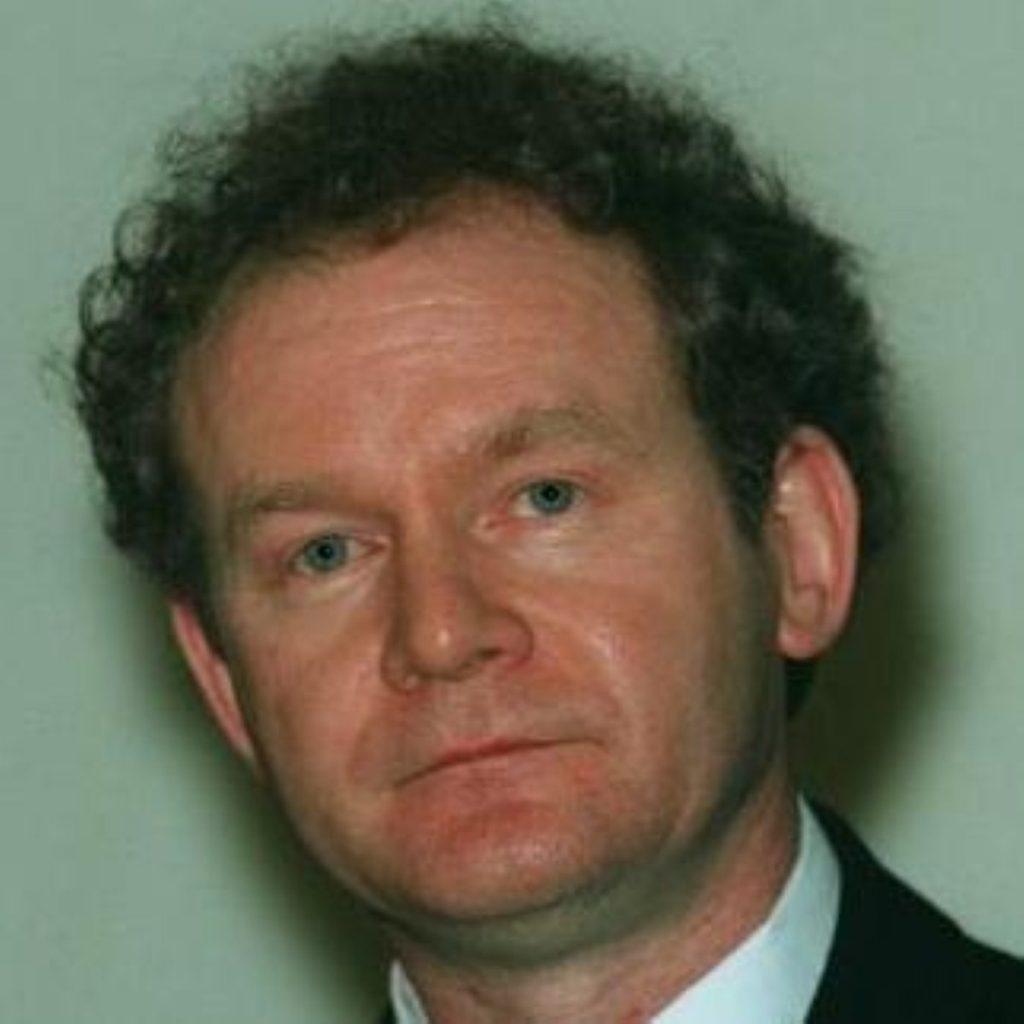Martin McGuinness, deputy first minister