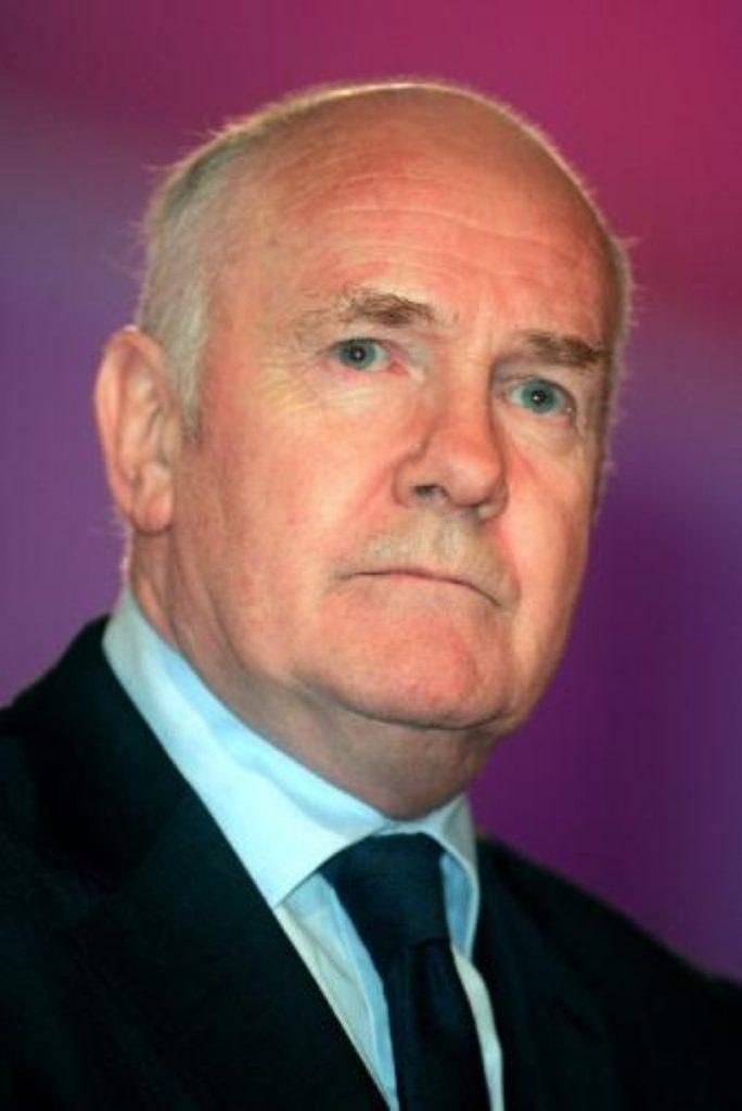John Reid's speech in East London was disturbed by hecklers