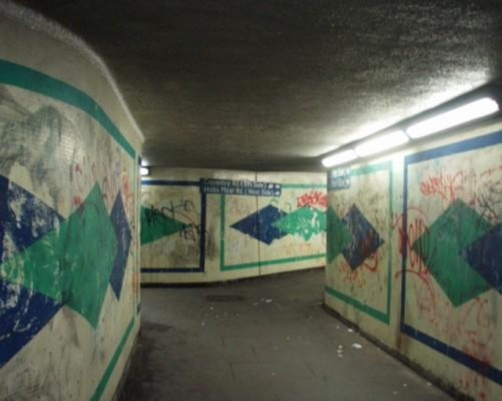 One of the Coventry Road subways at the centre of the campaign