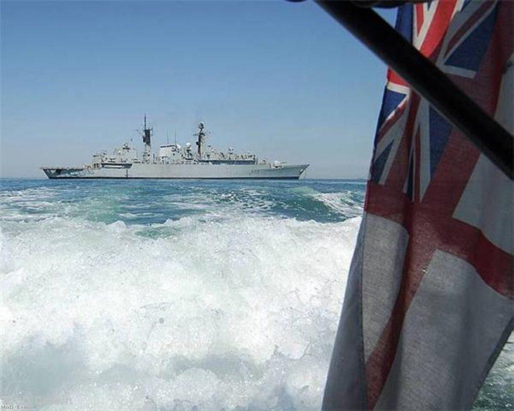 HMS Cornwall 'in Iraqi waters'