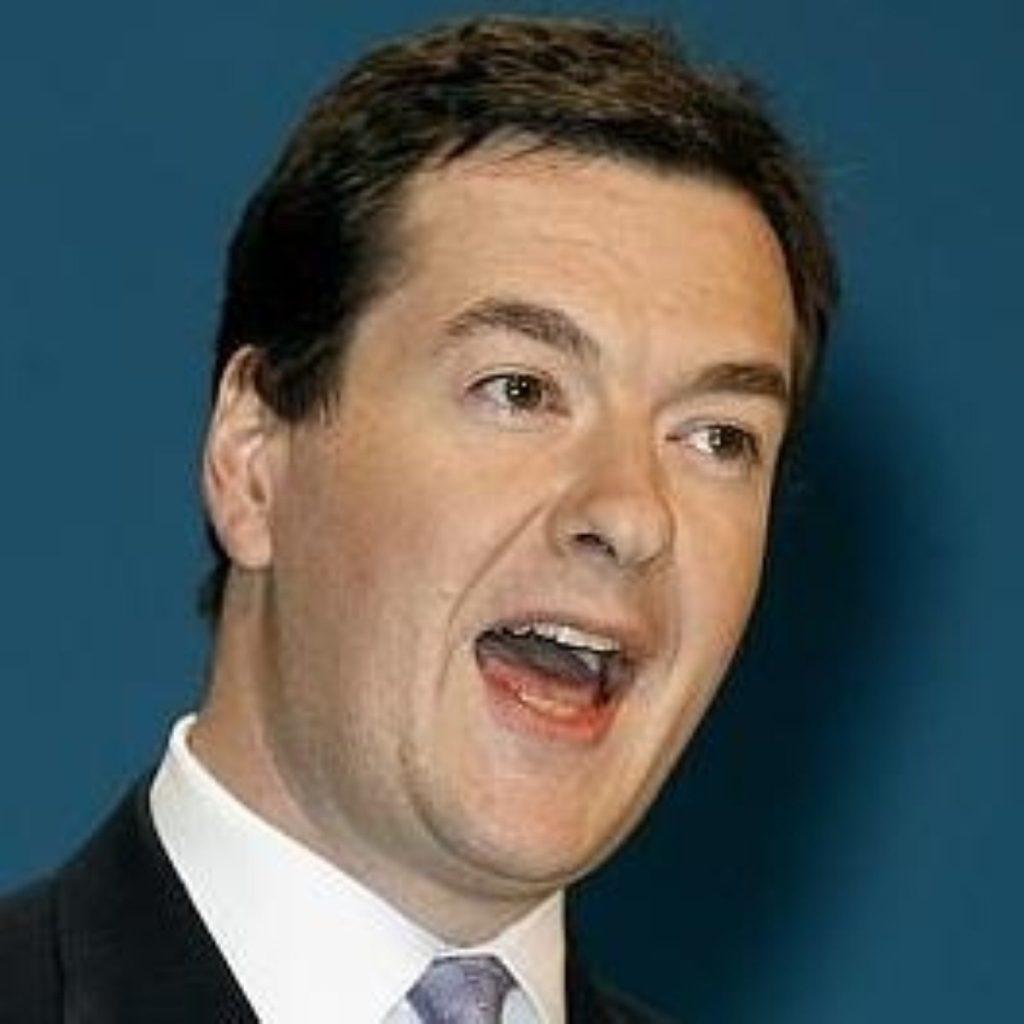 George Osborne unveils Tory economic policies