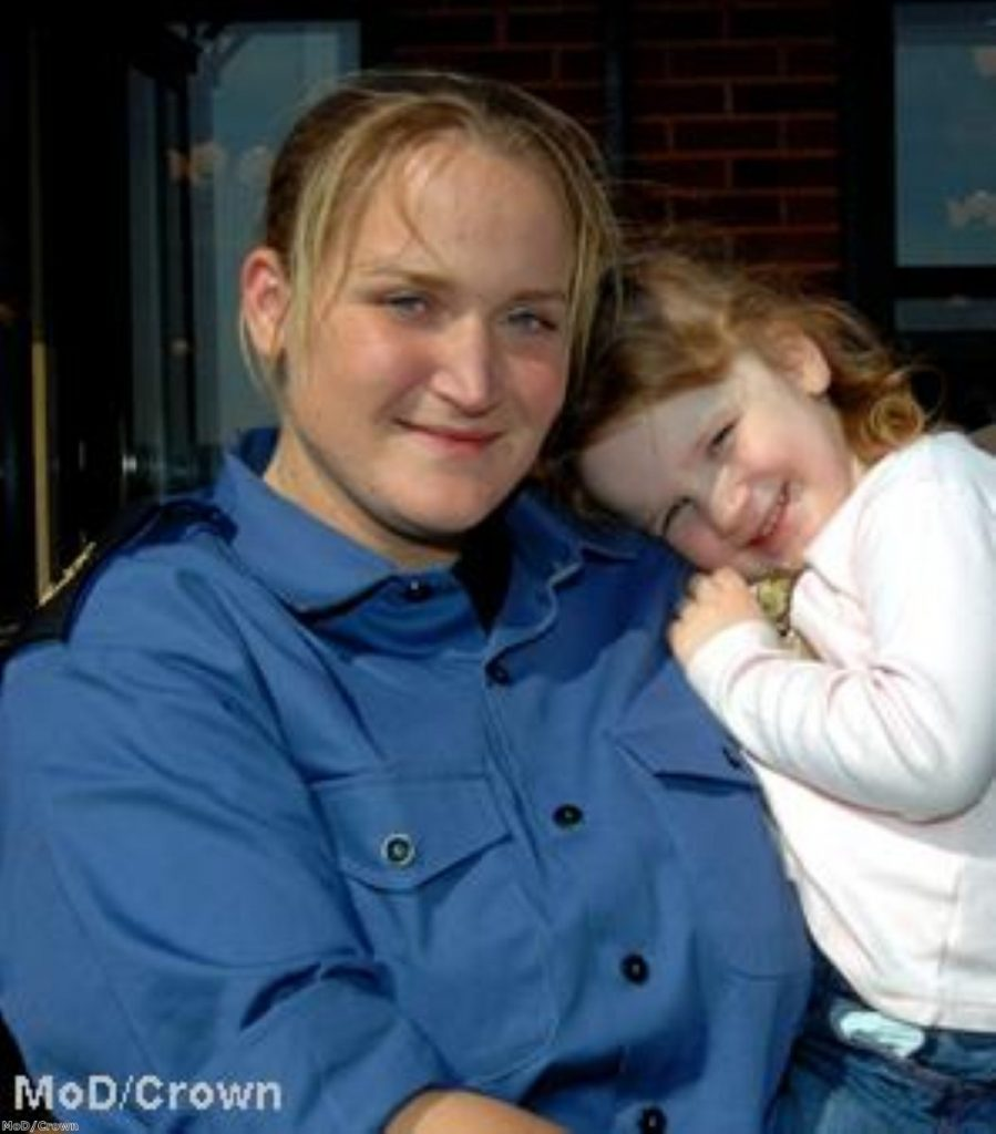 Faye Turney reunited with her daughter last week