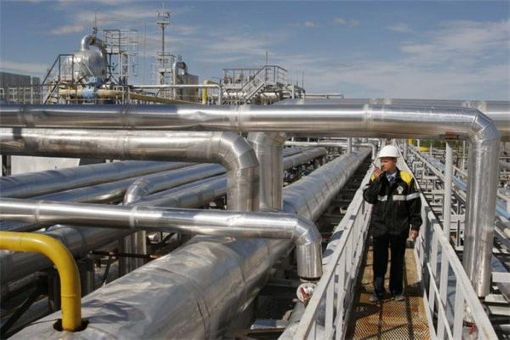 A Rosneft production facility. Britain relies on Russia for 15% of its gas supplies