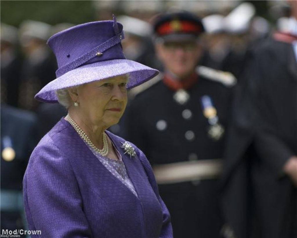 The Queen at a Falklands ceremony ceremony last year