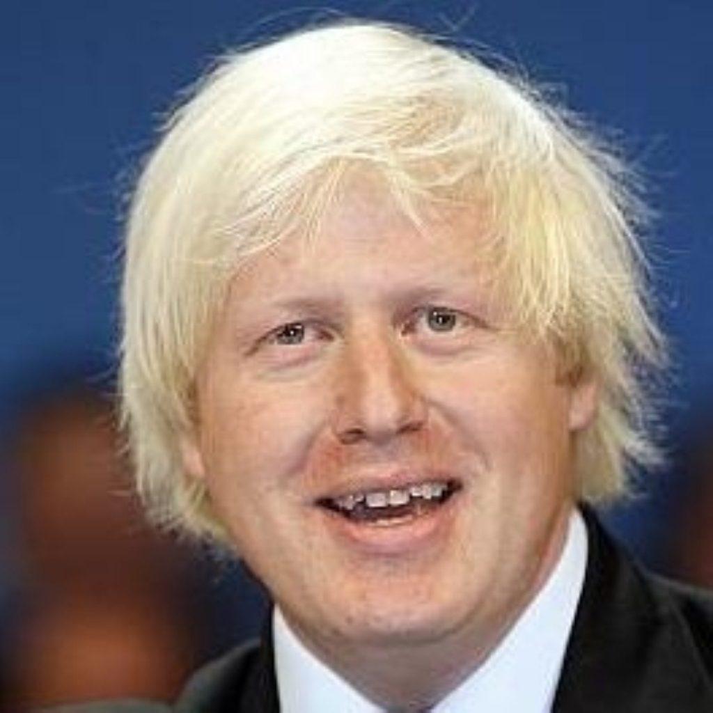 "London mayor Boris Johnson pledges to rid London of criminal ""scourge"""