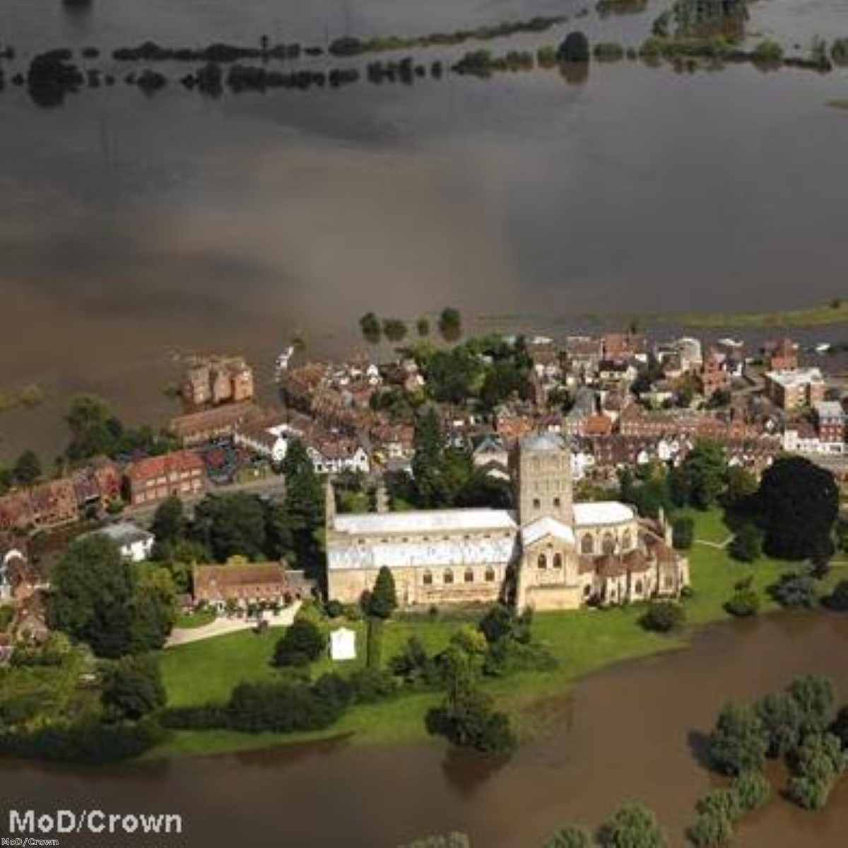 Tewkesbury suffered extensive damage in the summer 2007 floods