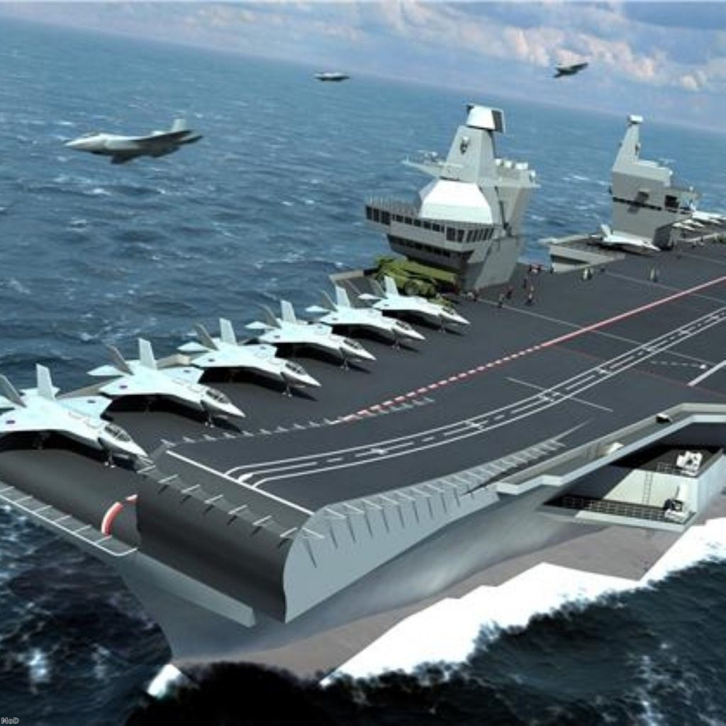 The two new aircraft carriers have attracted much controversy since they survived the SDSR