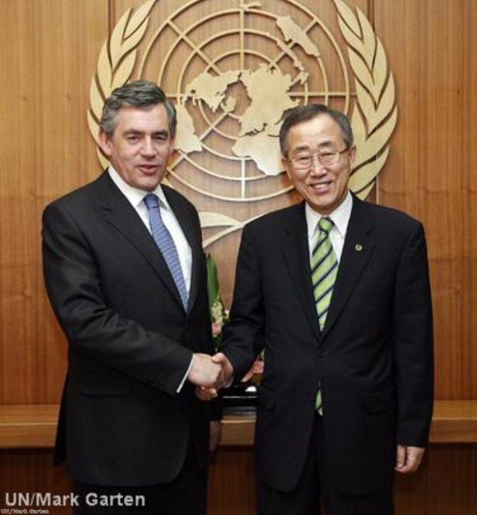 The joint letter by three european heads of state was sent to UN secretary general Ban Ki Moon today.