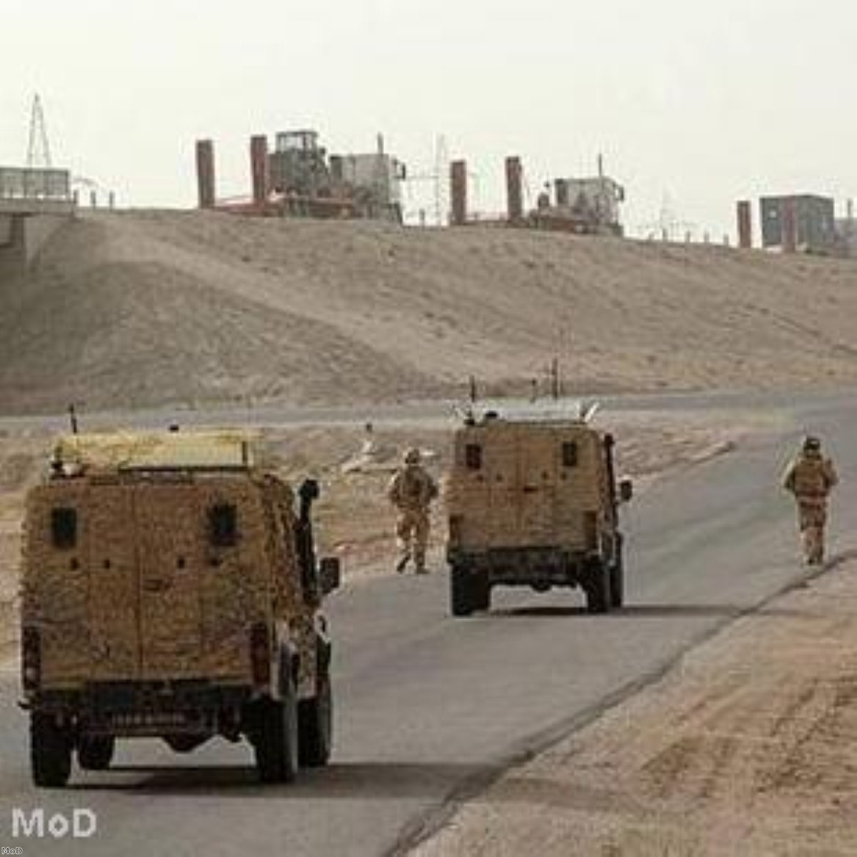 British troops on the way out of Iraq
