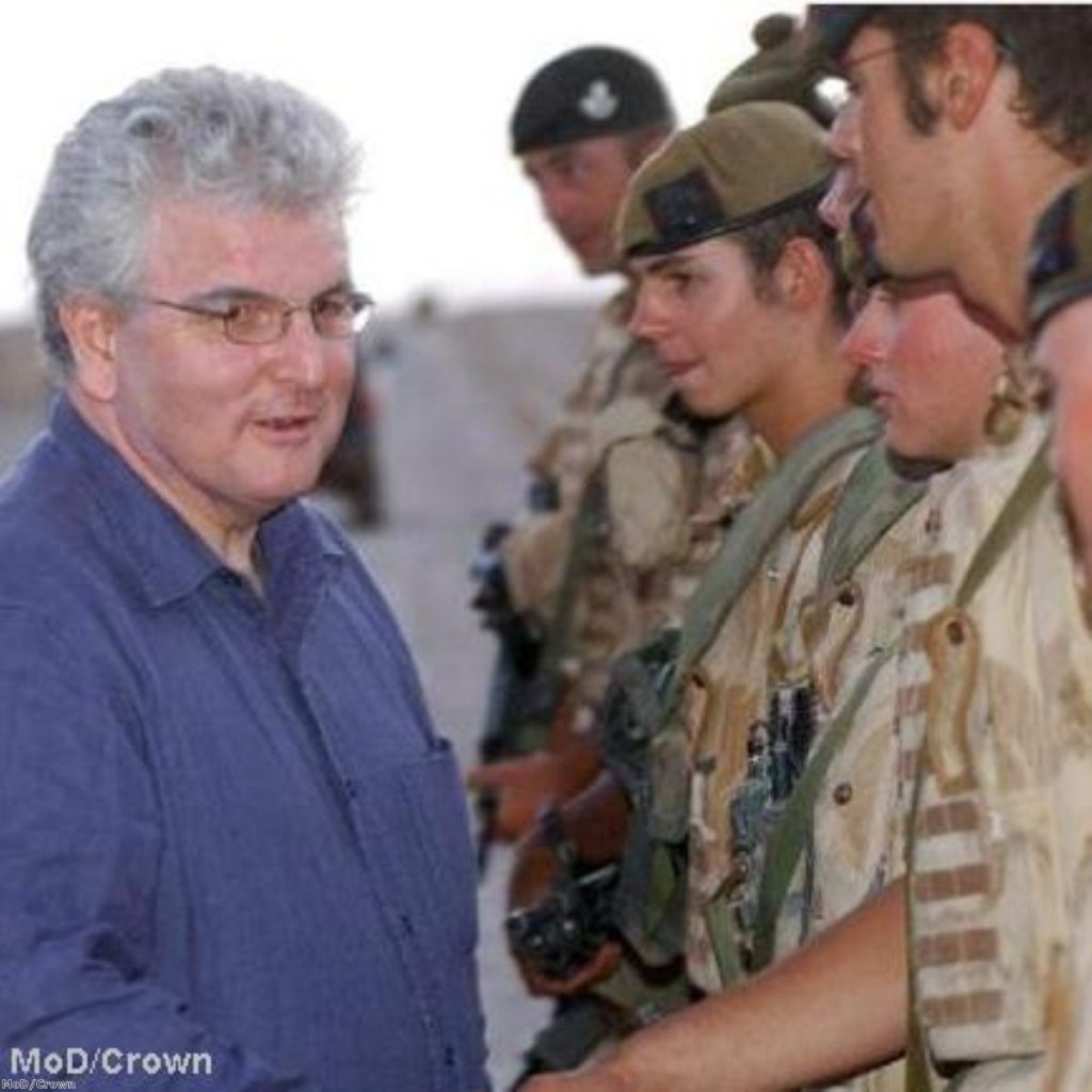 Defence secretary Des Browne meeting with troops