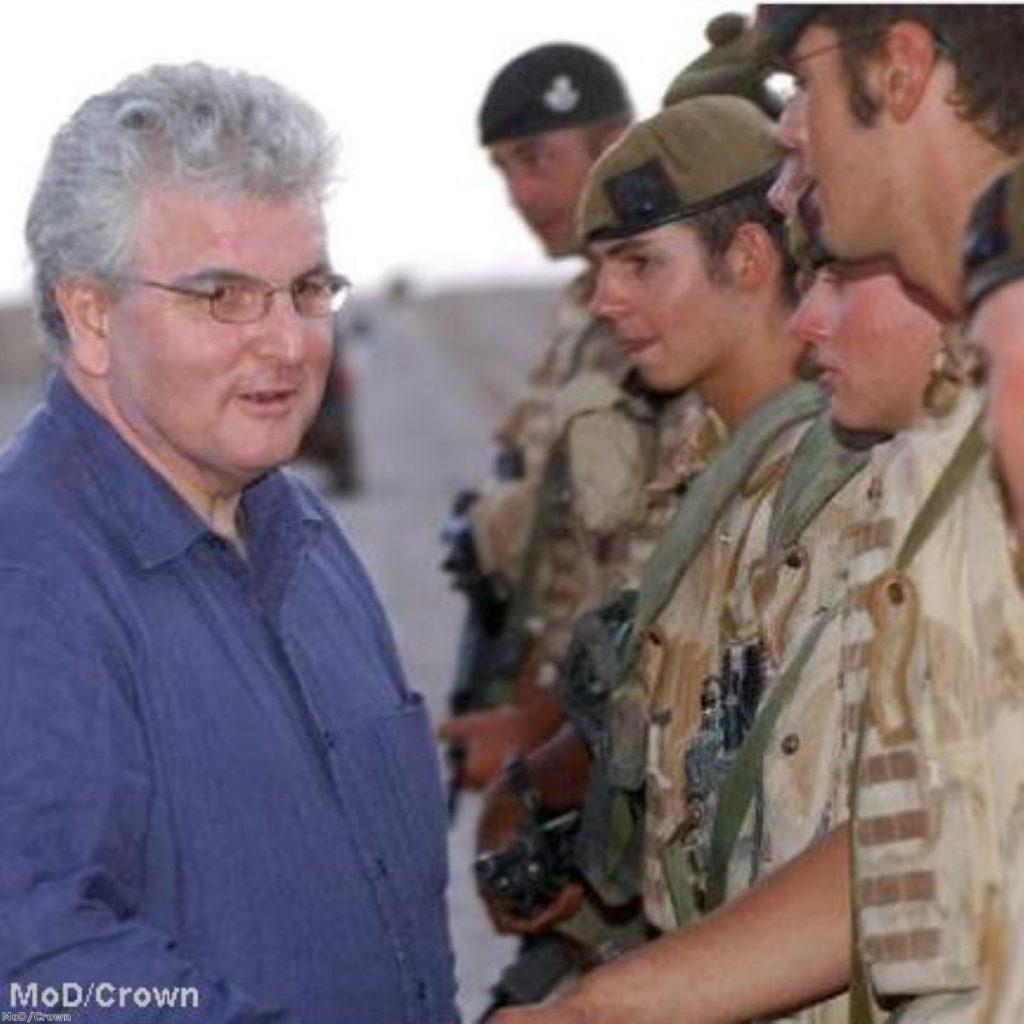 Des Browne in Iraq