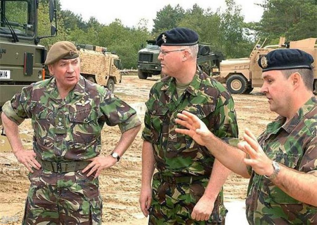 General Sir Richard Dannatt (l) has been shaking his head for years